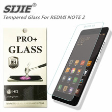 SIJIE Tempered Glass For XIAOMI REDMI NOTE 2 0.26mm Screen Protector anti scratch stronger real 9H with Retail Package discount