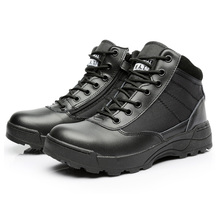 Fashion 2016 Army Boots Male Zipper Design Tactical Boots Delta SWAT Shoes For Men Black Military Boots