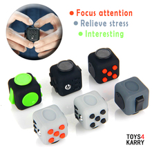Fidget Cube Magic Cubes Puzzle Relieve Stress Toys for Children Adult Autism ADHD Kids Non-toxic Squeeze Fun Gifts Easy To Carry