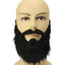 1pc 2017 Funny Costume Party Male Man Halloween Beard Facial Hair Disguise Game Black Mustache(China)