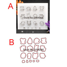 Scrapbook DIY photo cards account rubber stamp clear stamp transparent stamp Lovely Animal Cat Mouse Pig Sheep 11x12cm 782210