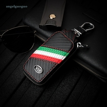 Car VIP Carbon Fiber Key Cover Bag Chain For Ford Focus MK4 Fiesta Kuga Mondeo Everest Ecosport Explorer Range Car Styling