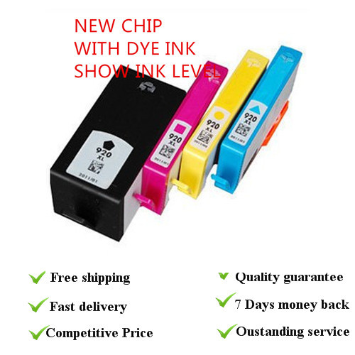 1 set SHOW INK LEVELwith new  chip   dye ink cartridges suit for HP 920xl suit for hp printers<br><br>Aliexpress