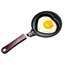 Mini Non Stick Stainless Steel Heart Shape Egg Pan Pancake Pot Fry Frying Pan (color Random)
