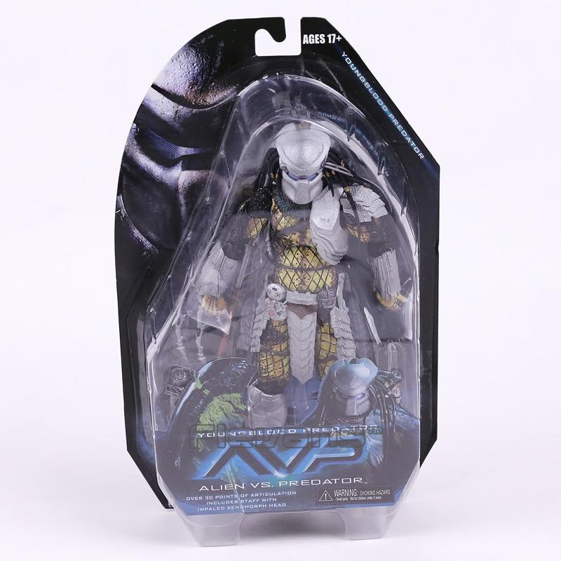 NECA Alien vs. Predator Young Blood Predator / Serpent Hunter PVC Action Figure Collectible Model Toy 8 20cm<br>
