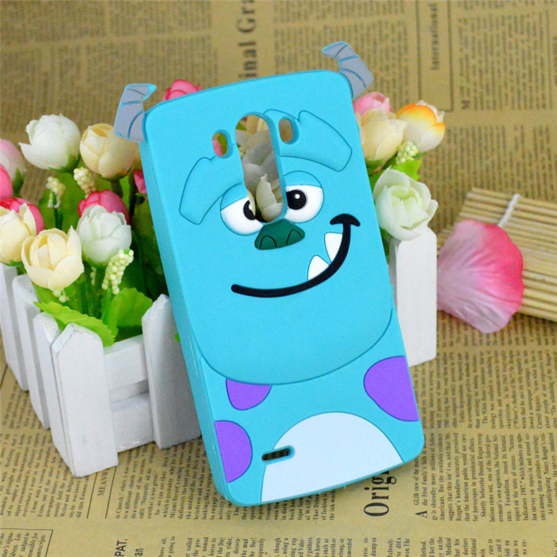 LG G3 D855 D850 D851 Cute 3D Cartoon Monsters University Sulley Soft Silicone Case Cover Minions