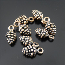40PCS Antique Copper Pendant Personal Mulberry Shape Charms Jewelry Necklace Key Chain Phone Accessory 12*6*5mm
