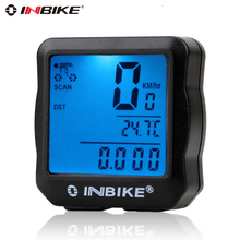 2017 inbike Digital Computer bicycle speedometer bike bicicleta ciclismo mtb cycling Waterproof computer Odometer Tachomet(China)
