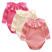 2018 Baby Rompers Summer Baby Girl Clothes Solid Baby Clothing Roupas Bebe Newborn Clothes Infant Jumpsuits Baby Girl Costume