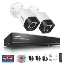 SANNCE 4CH 1080N 4IN1 DVR CCTV System 2pcs 720P TVI CCTV Security Cameras IR Outdoor Waterproof Home Video Surveillance kit(China)