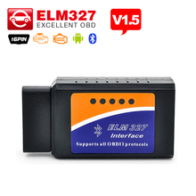 V1.5 ELM327 Bluetooth/ELM 327 Wifi/ELM327 USB optional Supports OBD II Protocols OBDII OBD2 Diagnostic Scanner Free Shipping