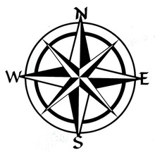 15cm*15cm Car Styling Compass Travel Wanderlust Direction NSWE Car Stickers vw toyota bmw benz audi mazda skoda cruze