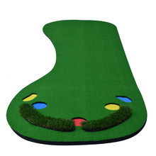 90x300cm Indoor & Outdoor Backyard Mini Golf Putting Green Protable Residential Golf Training Mat with 5 Ball Hole for Practice