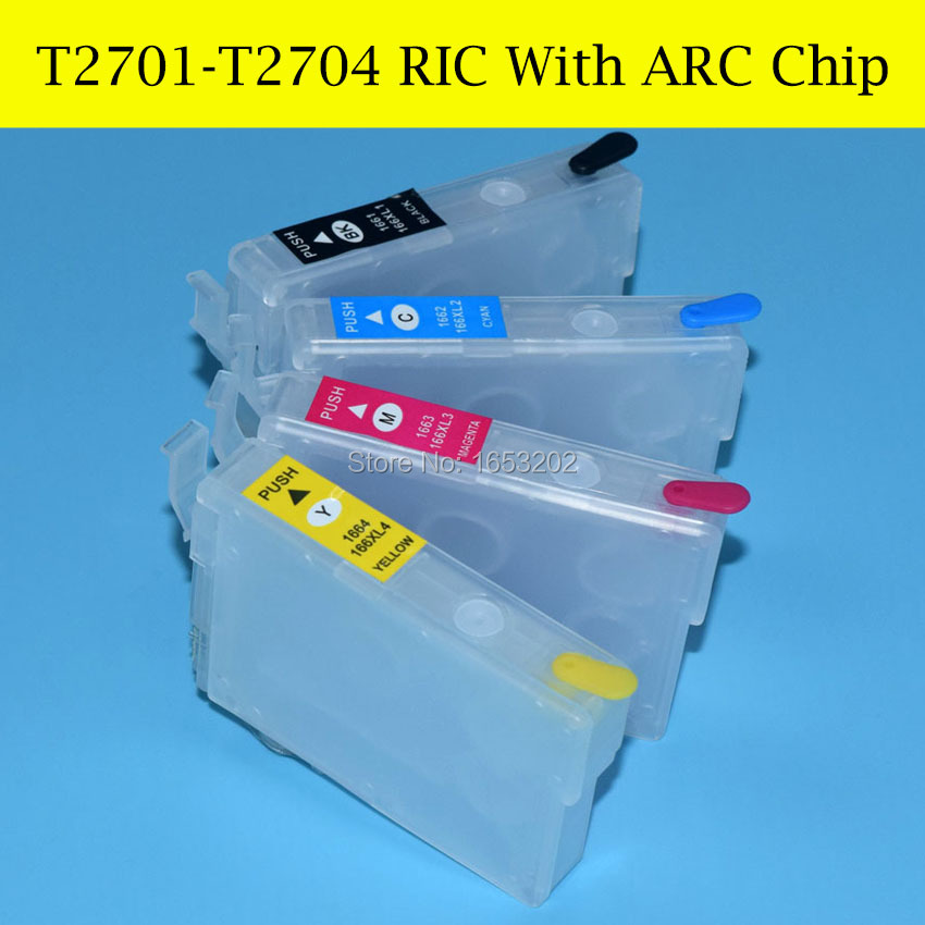 4 Pieces/Set For Epson T2791 T2701-T2704/T270 Refill Ink Cartridge For Epson Printer WF-7610/7620/3620/3640 With ARC Chip<br><br>Aliexpress