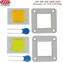 AC 110V 220V Driverless ceramic cob module chips 20W 30W 50W high power led PCB assemble floodlights source/ triac dimmable