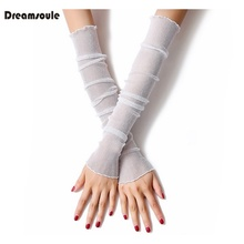 DREAMSOULE 1 Pair Universal UV Block Cool Arm Ice Sleeves for Hiking Driving Cycling Fishing Running Dancing Yoga Fitness(China)