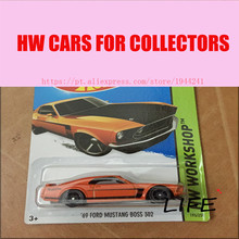 Toy cars Hot Wheels 1:64 69 Mustang Boss 302 Car Models Metal Diecast Cars Collection Toys Vehicle For Children Juguete(China)
