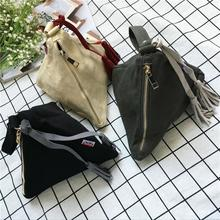 Triangle wristlet day clutch Women's PU Leather vintage fashion personalized design small casual Bag purse pyramid shape SUTOZ