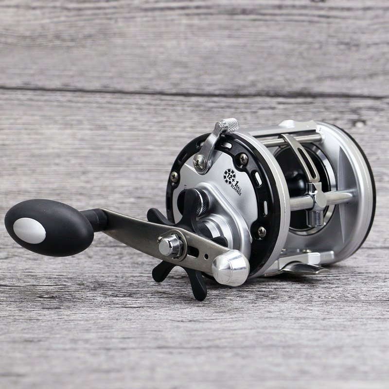 Baitcasting 12+1BB Drum Saltwater Sea Fishing Reels Bait Casting Right Hand Surfcasting Reel ALS88<br>