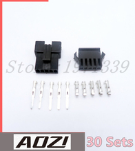 30 Sets Kits Female Male Conector Plugs JST 2.54MM SM-5P With Ternimals For Cars(China)