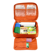 Free Shipping Orange Outdoor Travel First Aid Kit Bag Home Small Medical Box Emergency Survival kit Treatment Outdoor Camping(China)