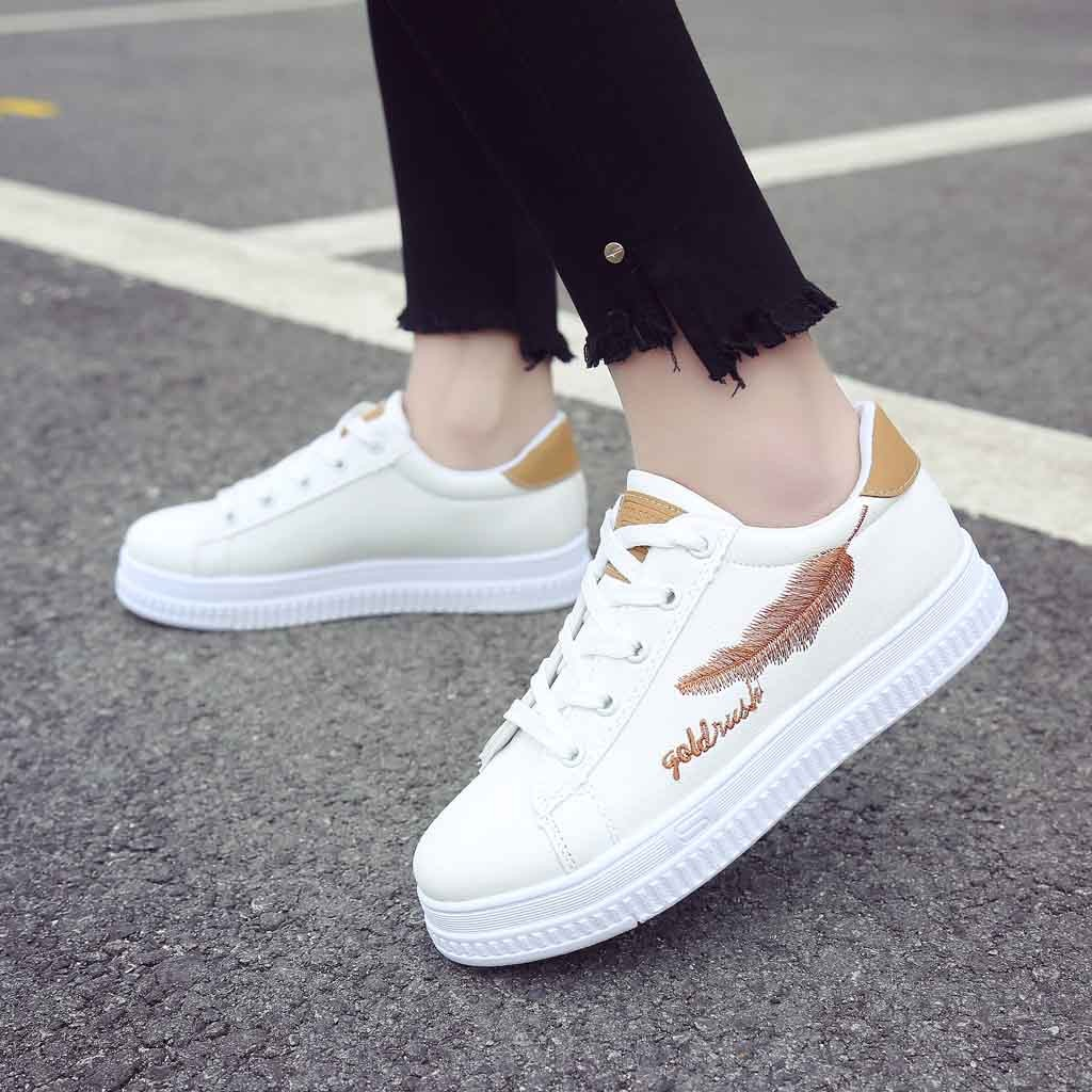 Fashion Women/'s Flat Platform Slip On Shoes Outdoor Casual Flower SIngles Shoes