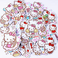 40pcs/pack creative kawaii self-made Hello Kitty scrapbooking stickers /decorative sticker /DIY craft Photo album
