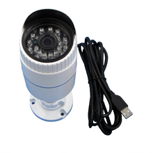 VGA 640x480P IR Cut IR Led Day Night Vision USB Camera Aluminum Bullet Case Vandal-Proof Waterproof Outdoor Webcam