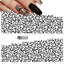 1 Sheets Retail Lowest Price Nail Art Sticker Water Transfer Full Cover Irregular Shape for Tips Finger Sexy Decals B304(China)