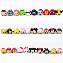 Lovely cartoon Tsum Tsum figures Minnie mickey car furnishing articles10pcs/lot cute girls toys doll decorations Children gift