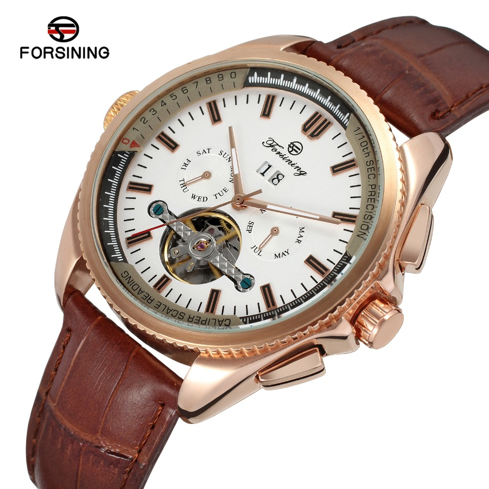 Forsining Watches Men Tourbillon Automatic Wristwatches Top Luxury Brand Designer Business Dresses Male Watch Gift Clock<br>