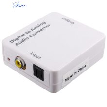SIMR New TV Optical Digital SPDIF/Coaxial to RCA L/R Headphone Analog Audio Converter Out