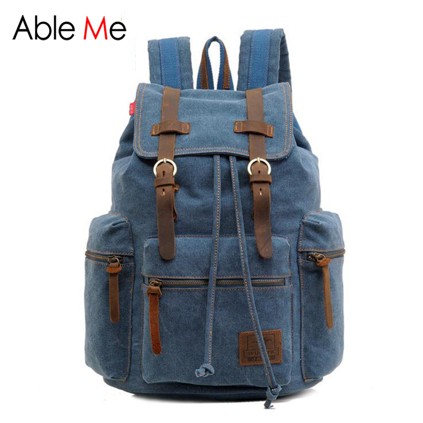 High Quality Men And Women Canvas Backpack Multifunction Military Fashion Trend Rucksack Laptop Backpack<br><br>Aliexpress