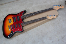 Free shipping 2017 New Style Double neck guitar 4 strings bass & 6strings st Stratocaster electric guitar @12