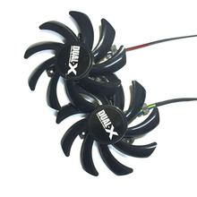 2pcs/lot Computer VGA Cooler Heatsink graphics card Cooling Fan as Replacement For XFX R9 280X 290X Video Card(China)