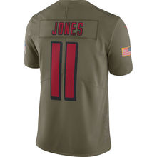 Men's atlanta Julio Jones Devonta Freeman Matt Ryan falcons Olive Salute To Service Limited jerseys(China)