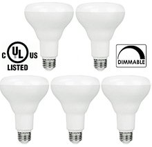 5-pack BR30 LED Bulb by Bioluz LED SEE Series, Warm White (2700K), 700 Lumen, 65w Dimmable LED Floodlight (uses 9w) - 5-Pack(China)