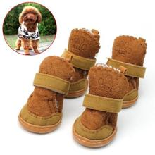 New Qualified New DOG BOOT Waterproof Anti-Slip Pet Shoes Boot Classic Warm Dog Shoes  Levert Dropship dig631