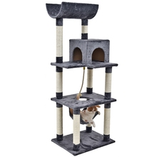 Domestic Delivery H161 Cat Toy Scratching Wood Climbing Tree Cat Jumping Toy Ladder Climbing Frame Cat Furniture Scratching Post(China)