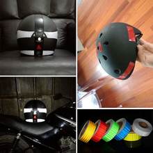 "2""x10' 3m reflective tape motorcycle helmet Adhesive reflective tape hard hat stickers white red"