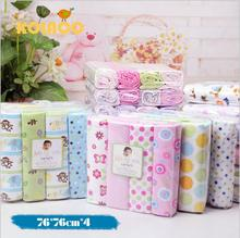 4pcs Baby Bedding Set Cute Printing Crib Sheet Multi-Functional Baby blanket cotton swaddle Kids Sheets Bed Crib Single Sheets(China)