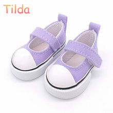 Tilda 6cm Toy Shoes For Paola Reina Doll,Fashion Mini Summer Shoes,1/3 Bjd Doll Footwear Shoes for Corolle Dolls Accessories(China)