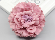 2016 trendy Fabric Blooming peony Flower Corsage Brooch woman Hair Decorations & Brooch wedding party Hair Clip Bridal Wedding(China)