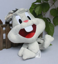 "IN HAND FREE SHIP NEW Bugs Bunny 10"" 25cm stuffed animal plush doll brand new"