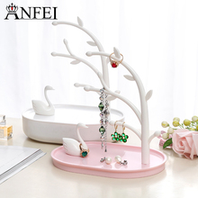 ANFEI New Arrivals Jewelry Display High-Grade Earrings Display Shelf Jewelry Organizer Stand For Jewelry Holder Stand Wholesale(China)