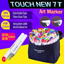 touch new alcohol-based markers 30 168 set twin fiber nibs fine colour drawing posca marker pens do a dot art for fashion Anime(China)