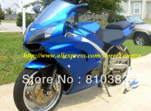 Top-quality blue white Fairing  for 2005 2008 KAWASAKI ZZR600 05 08 ZZR 600 2005-2008 ZZR 600 05 06 07 08  body work