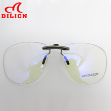 Metal Anti Blue Ray Clip On Glasses Men Women Aviator Computer Goggles Game Glasses Anti-Blue Light Radiation Resistant Eyewear