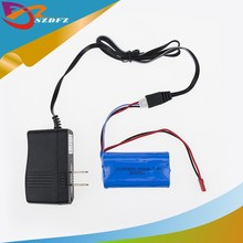 7.4V 1500mAh ICR-18650mah Battery 1pcs and wall charger for MJX F 45 Helicopter Spare Parts DH 9053 9101 f45 9118 rc Helicopter(China)