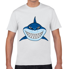 Joy Only 2017 Summer Shark Shape Funny T-shirt Cotton Fashion Tee T Shirt  Men Camisas Men's Clothing Camisetas Tops US Size